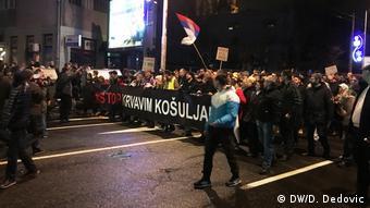 Serbien Proteste in Belgrad (DW/D. Dedovic)