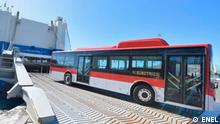 Elektrobusse in Lateinamerika. Bus Chile (©ENEL) Aufgenommen am 09.12.2018