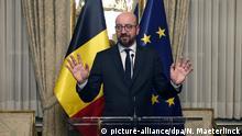 Belgien Brüssel PK Premierminister Charles Michel