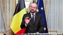 Belgian Prime Minister Charles Michel gives a press conference after a Kern meeting, a restricted ministers meeting of the Federal Government in Brussels, on December 8, 2018. (Photo by NICOLAS MAETERLINCK / BELGA / AFP) / Belgium OUT (Photo credit should read NICOLAS MAETERLINCK/AFP/Getty Images)