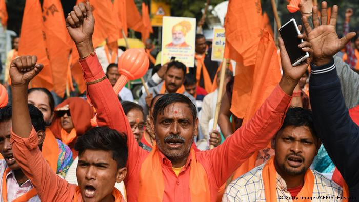 Hindu nationalists protest