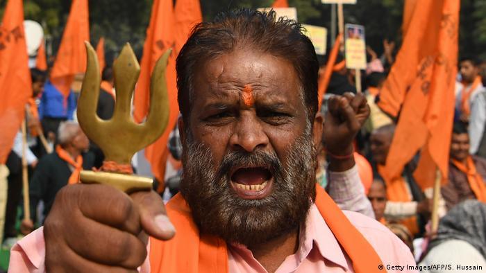 Indien Hindu-Nationalisten fordern den Bau eines Tempels (Getty Images/AFP/S. Hussain)