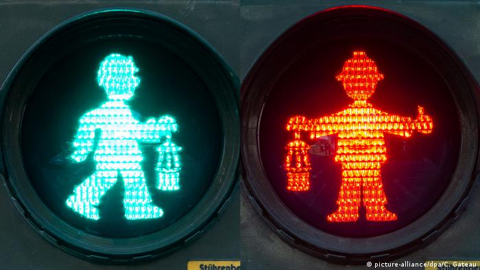 Rudarstvo u krvi - semafor s rudarom u Duisburgu (Rurska oblast)
