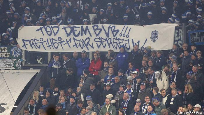 Is This Germany S Most Offensive Football Banner Sports German Football And Major International Sports News Dw 09 12 2018