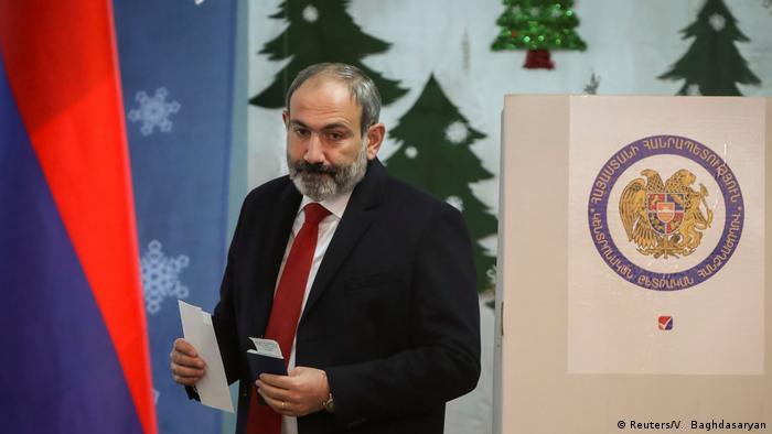 Никол Пашинян на выборах 9 декабря 2018 года
