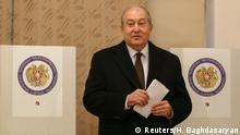 Wahlen in Armenien Präsident Armen Sarkissian