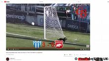 Screenshot Youtube Fußball Argentinien Hund