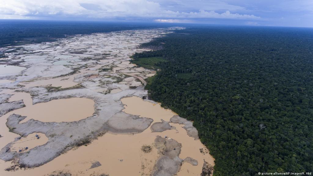 Illegal gold mines destroying Amazon rainforest: study | News | DW |  11.12.2018