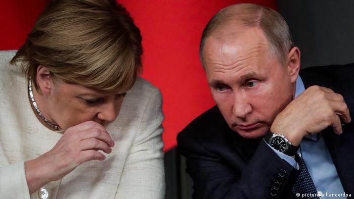 Angela Merkel and Vladimir Putin (October 27, 2018, Mikhail Metzel)
