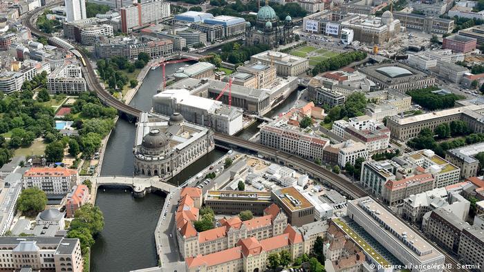 Vista aérea da ilha dos Museus