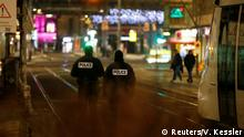 Police secure a street and the surrounding area after a shooting in Strasbourg, France, December 11, 2018 (Reuters/V. Kessler)