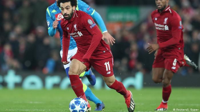 Fußball Champions League - Liverpool vs Neapel | Mohamed Salah (Reuters/J. Super)