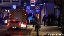 Frankreich Straßburg Rettungsteams nach Schüssen