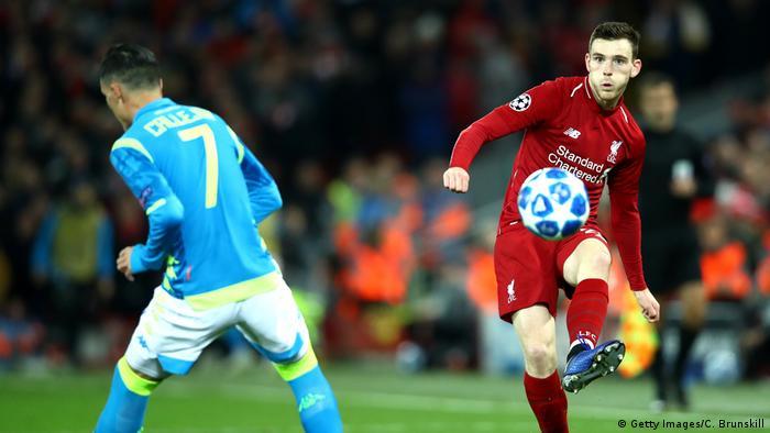 Champions League - Liverpool vs Neapel Andy Robertson