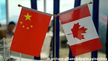 06.09.2018, China, Shanghai: --FILE--Chinese and Canadian national flags are seen during an exhibition in Shanghai, China, 6 September 2018. Chinese and Canadian foreign ministers on Monday (24 September 2018) highlighted the importance of defending multilateralism and the rule-based trade order during their meeting. While talking with Canada's Chrystia Freeland, Wang Yi, also China's state councilor, said that the world's long-held multilateralism is faced with severe challenges posed by rising unilateralism and protectionism. China is an unwavering supporter of free trade and the rule-based global trade system, he said. Wang noted that if international rules were undermined, the world would return to the law of the jungle, to the deep detriment of all nations, with middle and small-sized nations bearing the brunt. Foto: Dycj/Imaginechina/dpa |