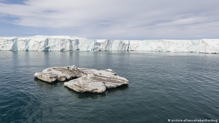 Glacier face in Norway's arctic region