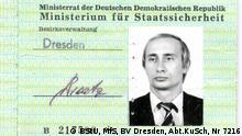 MfS-Hausausweis von Wladimir Putin