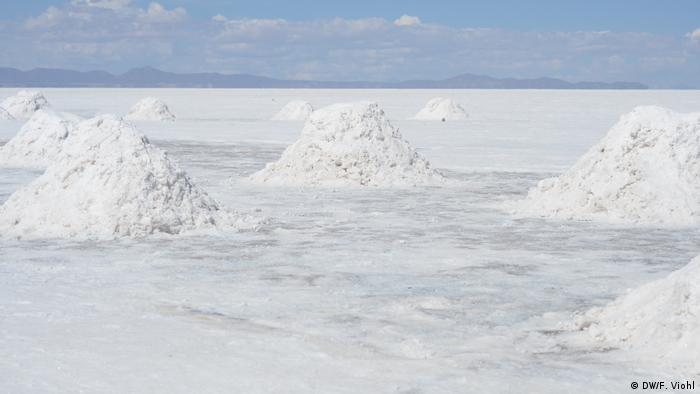 Salar de Uyuni, Salzpfanne & Abbau von Lithium (DW/F. Viohl)