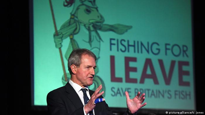 Former Environment Secretary Owen Paterson gives a speech at a pro-Brexit event