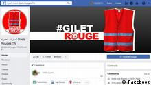 Screenshot Facebook- Gilet Rouge