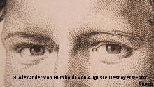 Alexander von Humboldt by Auguste Desnoyers, 1805 (a detail) - photo by Timothy A. Rooks