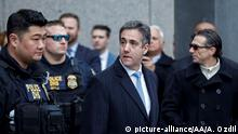 NEW YORK, USA - DECEMBER 12 : Former Trump Lawyer Michael Cohen leaves federal Court after his sentencing hearing at United States Federal Court in New York, United States on December 12, 2018. Michael Cohen, U.S. President Donald Trump's former longtime personal lawyer, was sentenced Wednesday to three years behind bars by a federal judge in New York. Atilgan Ozdil / Anadolu Agency   Keine Weitergabe an Wiederverkäufer.