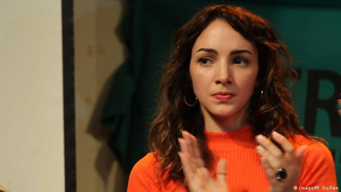 Thelma Fardin, actriz argentina que denunció haber sido violada en 2009, cuando tenía 16 años por su compañero de elenco, Juan Darthés, en ese momento, de 45 años.