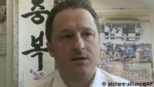 02.03.2017, China, Yanji: Das Videostandbild zeigt Michael Spavor, Korea-Experte, während eines Skype-Interviews. China hat die Festnahme eines zweiten Kanadiers bestätigt. Auch gegen den Korea-Experten Michael Spavor werde ermittelt, weil er verdächtig werde, «in Aktivitäten verwickelt zu sein, die die nationale Sicherheit gefährden», berichtete die Nachrichtenagentur China News Service am Donnerstag den 13.12.2018 unter Hinweis auf das Staatssicherheitsbüro in Dandong an der nordkoreanischen Grenze. (Bestmögliche Qualität) Foto: Uncredited/AP/dpa +++ dpa-Bildfunk +++  