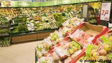 Obst und Gemüse-Abteilung im Supermarkt