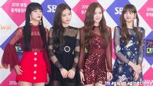 (From left) Jisoo, Jennie, Rose and Lisa of South Korean girl group Black Pink (BlackPink) arrive for the 2017 SBS Gayo Daejun, a major annual end-of-the-year music program broadcast by Seoul Broadcasting System (SBS), in Seoul, South Korea, 25 December 2017. IU leads K-pop stars to glam up SBS Gayo Daejun in Seoul PUBLICATIONxINxGERxAUTxSUIxONLY 20171226_00485