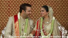 Hochzeit Indien Isha Ambani Anand Piramal (picture alliance/Reliance Industries Limited7AP Photo)