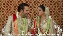 Hochzeit Indien Isha Ambani Anand Piramal (picture alliance/Reliance Industries Limited7AP Photo)