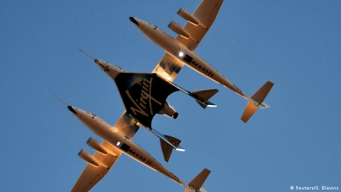 BdTd Kalifornien Virgin-Raumtourismus-Raketenflugzeug SpaceShipTwo (Reuters/G. Blevins)