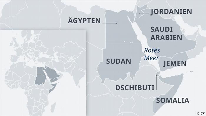 Karte Region rotes Meer DE