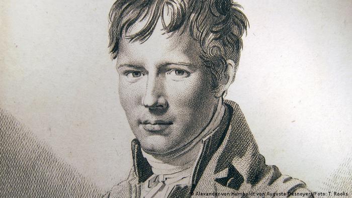 Imagen de Alexander von Humboldt en un grabado en cobre de Auguste Desnoyers. (1805).