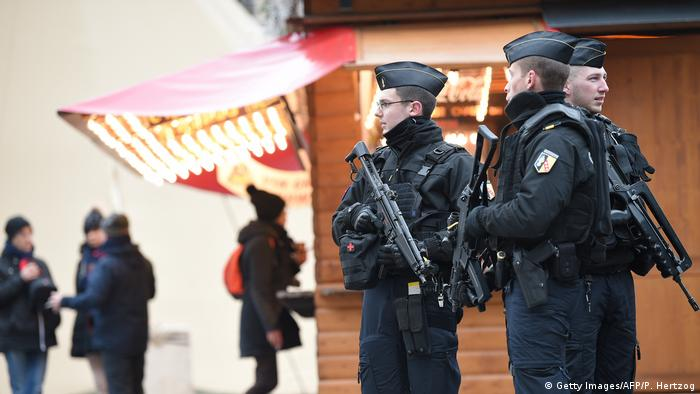 Police at the Strasbourg Christmas market