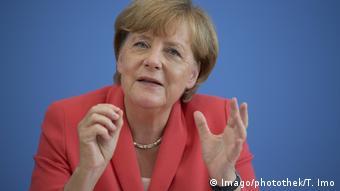 Bundeskanzlerin Angela Merkel vor der Bundespressekonferenz Berlin 31 08 2015