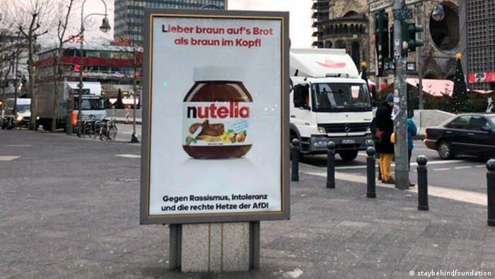 Fake Nutella ad