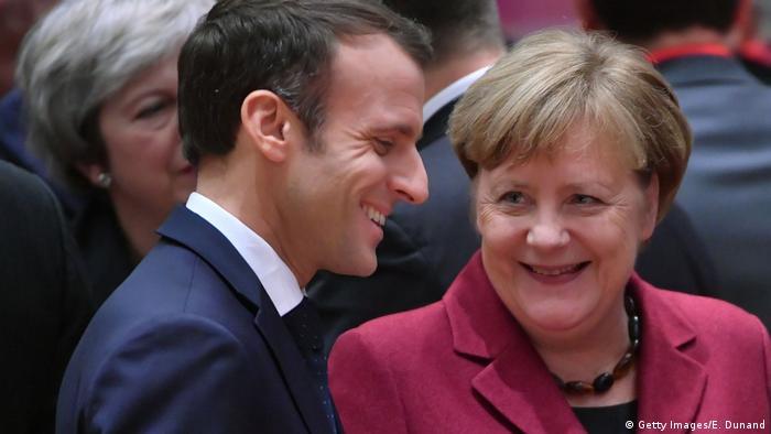 Belgien, EU-Gipfel - Emmanuel Macron, Präsident von Frankreich und Bundeskanzlerin Angela Merkel (Getty Images/E. Dunand)