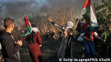 Gazastreifen - Demonstrationen zwischen Israel und Khan Yunis