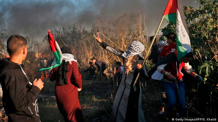 Protesters in the Gaza Strip (Getty Images/AFP/S. Khatib)
