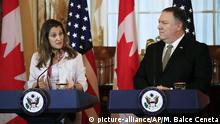 USA Washington Mike Pompeo trifft sich mit Chrystia Freeland