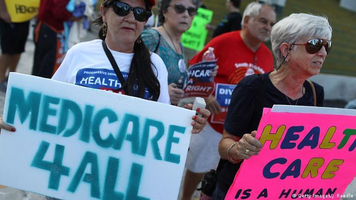 USA Kundgebungen vor der Abstimmung des Senats über das Gesundheitswesen