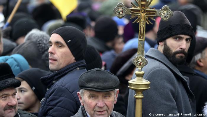 митинг около Софийского собора в Киеве
