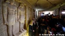 Journalists take photos inside the newly-discovered tomb of 'Wahtye', which dates from the rule of King Neferirkare Kakai, at the Saqqara area near its necropolis, in Giza, Egypt, December 15, 2018. REUTERS/Mohamed Abd El Ghany