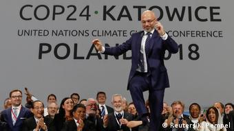 Polen, COP24-Präsident Michal Kurtyka während einer Abschlusssitzung der COP24-Klimakonferenz 2018 in Katowice