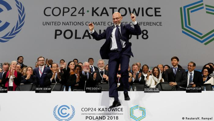 COP24 President Michal Kurtyka reacts during a final session of the COP24 U.N. Climate Change Conference 2018 in Katowice, Poland