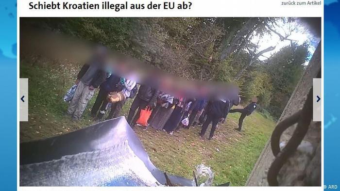 Screenshot tagesschau.de - Kroatien-Bosnien-Migranten