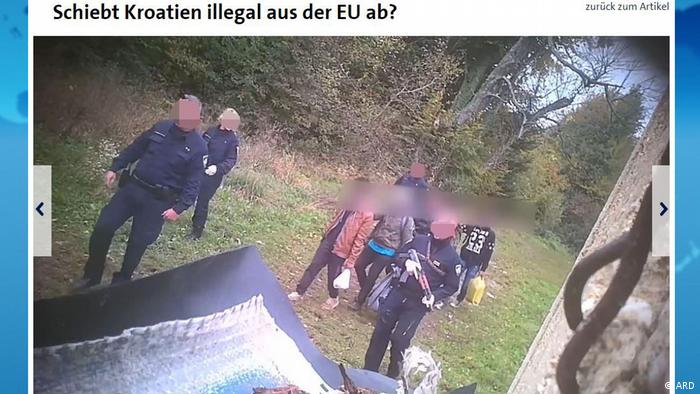 Footage of Croatian authorities deporting refugees without legal process
