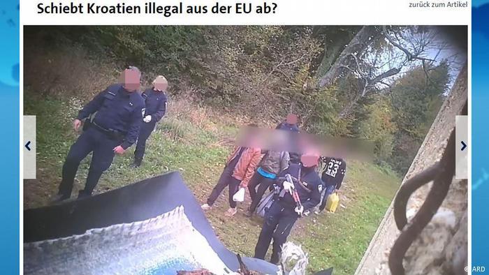 Aufnahmen vor der Abschiebung der Flüchtlinge aus Kroatien